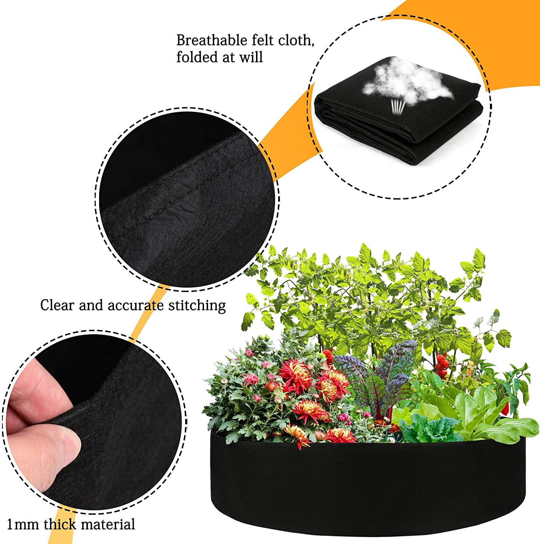 buy round raised planter garden bed bag